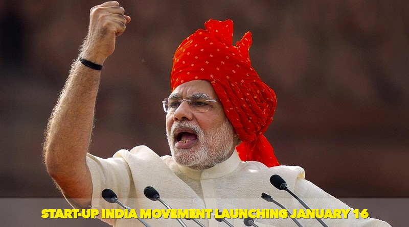 Start-up India movement launching January 16