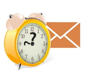 What is the best time to send the emails?